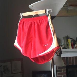 Red & Yellow Nike running shorts